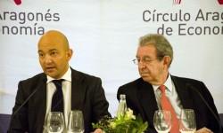 El Secretario de Estado de Comercio, Jaime García-Legaz, con el Presidente del Círculo Aragonés de Economía, Román Alcalá